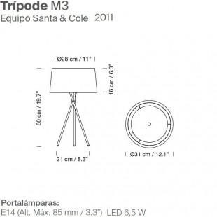 TRIPODE M3 DE SANTA & COLE