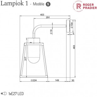 LAMPIOK 1 MODEL 5 BY ROGER PRADIER