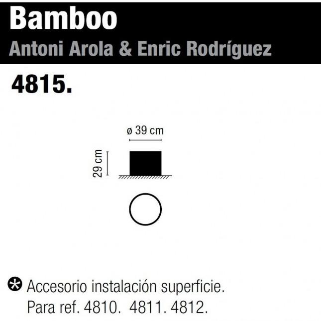 BAMBOO ACCESORIO INSTALACIÓN SUPERFICIE